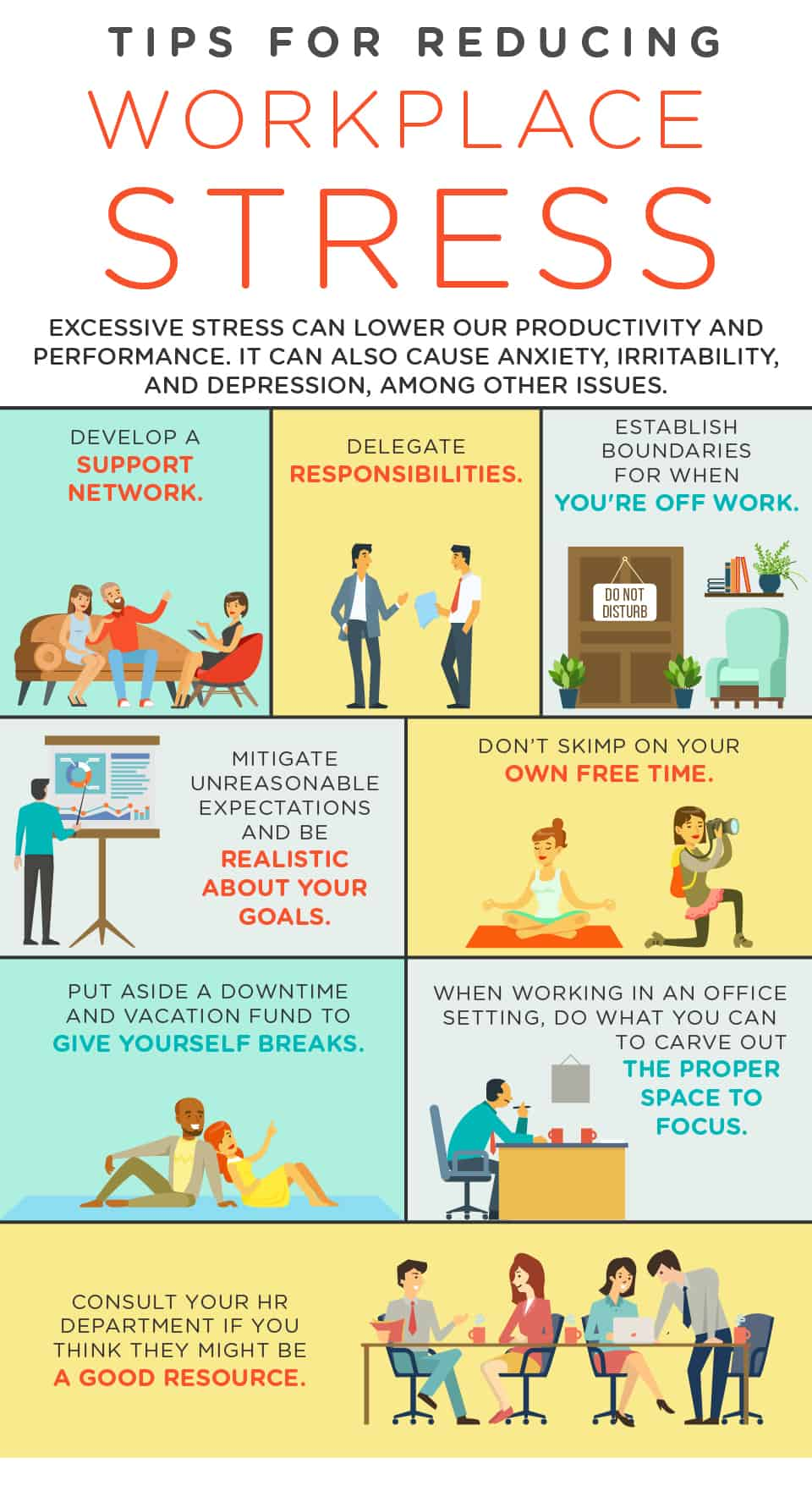 how to cope up with stress at work